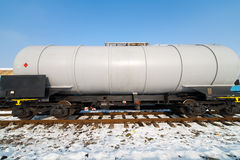 Petroleum tank on railway Stock Image