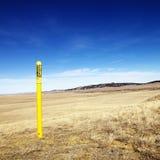 Petroleum warning pole. Stock Images
