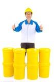 Petroli e grassi di lubrificante industriali Immagine Stock