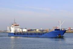 Petroliera nel porto Fotografia Stock