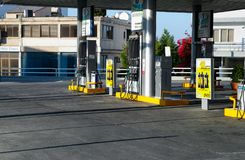 Petrolina Gas station in Paphos city. Royalty Free Stock Photography