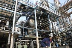 Petrolio, combustibile ed industria, potenza ed energia Fotografie Stock Libere da Diritti