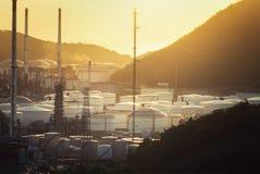 Petrolio dell'industria del gas della fabbrica della raffineria di petrolio Fotografie Stock Libere da Diritti