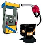 Petrolio e benzina Fotografia Stock