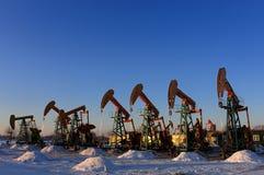 Petrolio e gas Fotografie Stock Libere da Diritti