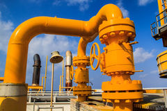 Petrolio e gas offshore di industria Immagini Stock