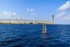 Petrolio e gas offshore di industria immagine stock