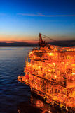 Petrolio e gas offshore di industria Fotografia Stock