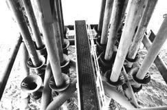 Petrolio e gas offshore di industria Fotografie Stock Libere da Diritti