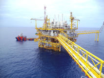 Petrolio e gas offshore di industria Fotografie Stock