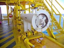 Petrolio e gas offshore di industria fotografia stock libera da diritti