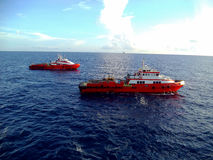 Petrolio e gas offshore di industria immagini stock libere da diritti