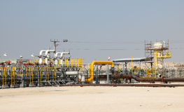 Petrolio e gasdotto nel deserto Immagine Stock Libera da Diritti