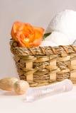 Petrolio e tovaglioli di massaggio Fotografia Stock