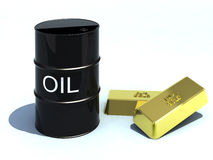 Petrolio ed oro Immagini Stock