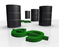 Petrolio greggio Fotografie Stock