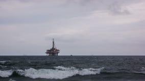 Petrolio marino Rig Time Lapse Video stock footage