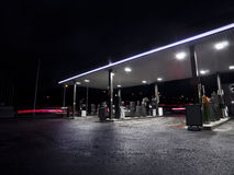 Petrolstation at night Royalty Free Stock Photo