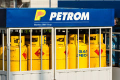 Petrom Gas Tanks Royalty Free Stock Photography