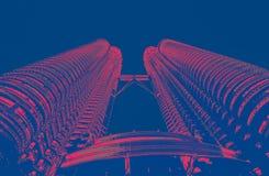 Petrona torn i KL Malaysia arkivbilder
