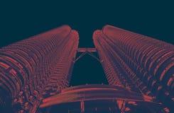 Petrona-towersPetrona Türme in Kiloliter Malaysia r lizenzfreie stockfotos