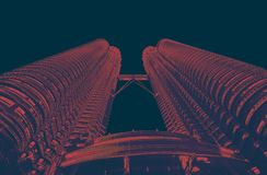Petrona towersPetrona towers in KL Malaysia r. Petrona towers in KL Malaysia red black duo tone royalty free stock photos