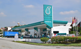Petronas bensinstation Royaltyfri Bild