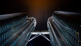 Petronas bliźniacza wieża Obrazy Royalty Free