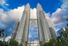 Petronas bliźniacze wieże Zdjęcia Royalty Free