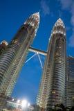 Petronas bliźniacze wieże w Kuala Lumpur, Malezja Fotografia Royalty Free