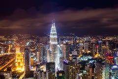 Petronas bliźniacze wieże w Kuala Lumpur, Malezja Zdjęcia Stock