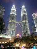 Petronas byggnad i Kuala Lumpur, Malaysia Arkivfoton