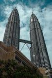 Petronas góruje, Kuala Lumpur, Malaysia, Styczeń 2013 zdjęcie royalty free