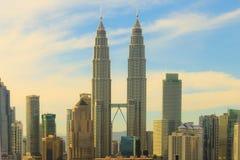 Petronas KLCC tvillingbröder Fotografering för Bildbyråer