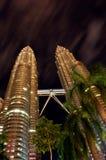 Petronas-Kontrolltürme Stockbild