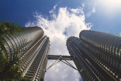 Petronas-Kontrolltürme Stockfotografie