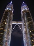 Petronas-Kontrolltürme Lizenzfreies Stockfoto