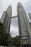 Petronas-Kontrolltürme in Kuala Lumpur Stockfotos