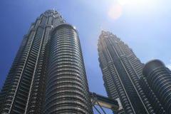 Petronas-Kontrolltürme, Kuala Lumpur stockbilder