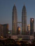 Petronas-Kontrolltürme, Kuala Lumpur Stockfotos