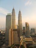 Petronas-Kontrolltürme in Kuala Lumpur Lizenzfreies Stockfoto