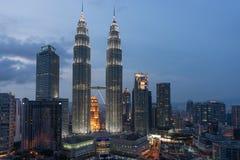 Petronas-Kontrolltürme in Kuala Lumpur Stockfoto