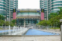 Petronas si eleva entrata Kuala Lumpur fotografia stock libera da diritti