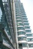 petronas skybridge wieże obrazy stock