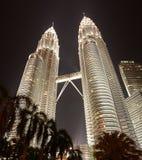 Petronas som bygger Kuala Lumpur Arkivbild