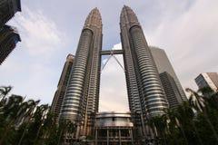 Petronas står högt Malaysia Fotografering för Bildbyråer