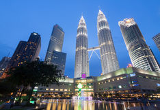 Petronas are the tallest twin buildings in the world 451.9 m stock photography