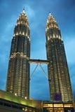 petronas torn kopplar samman Fotografering för Bildbyråer