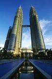 petronas torn kopplar samman Royaltyfri Bild