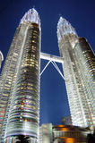 petronas torn kopplar samman Royaltyfri Foto